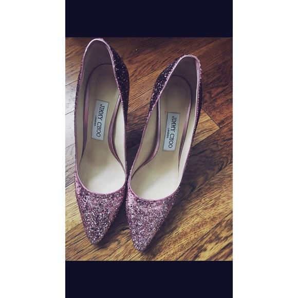 44619129b1f9 Jimmy Choo Shoes   Pink Glitter Pumps   Poshmark